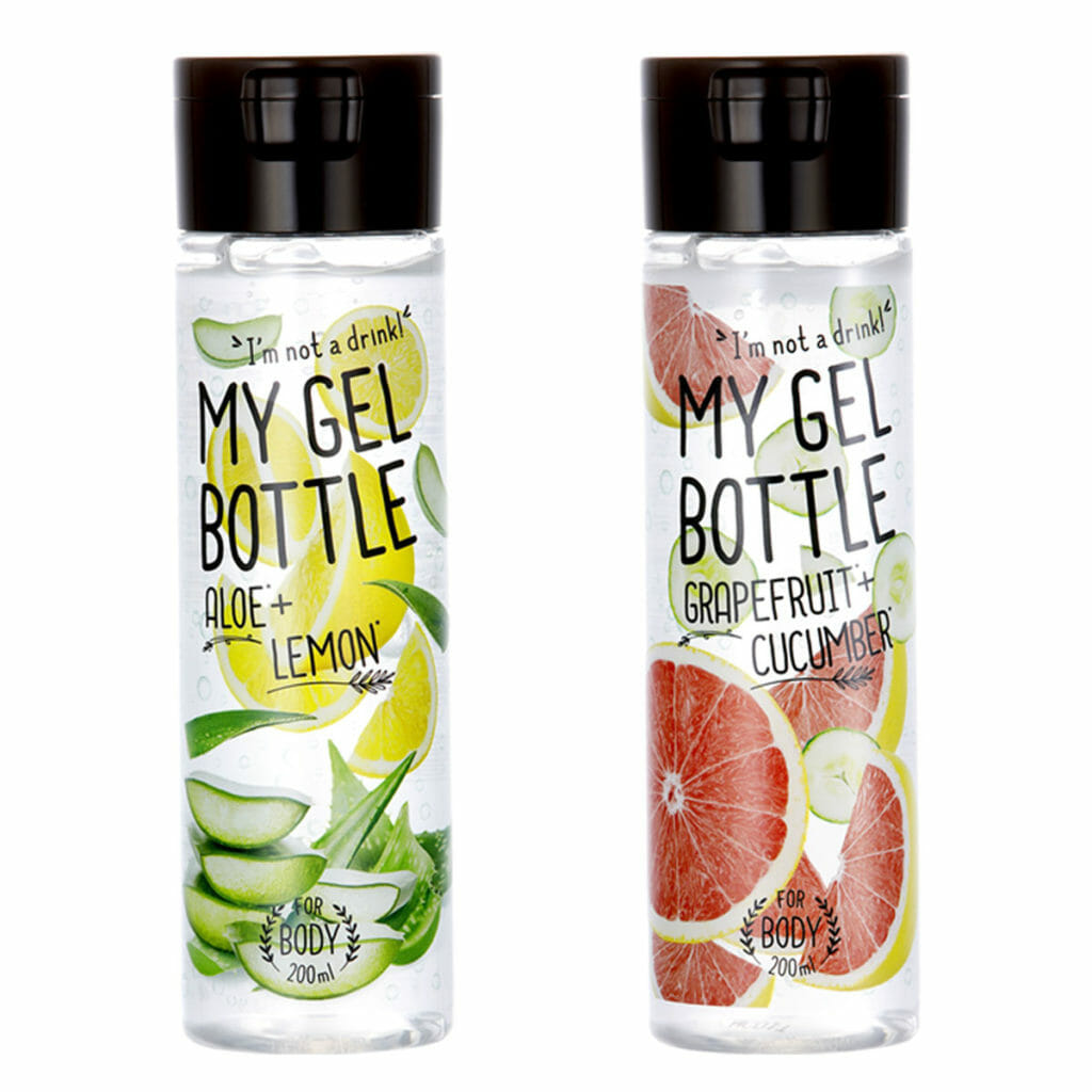 MY GEL BOTTLE ALOE+LEMON & GRAPEFRUIT+CUCUMBER